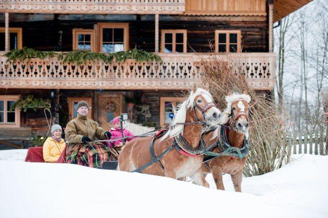 Pferdeschlittenfahrten –Winterurlaub in Altenmarkt im Pongau, Ski amadé, Salzburger Land